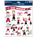 Arkansas Razorbacks Family Decals, WINC37646013