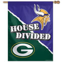 Minnesota Vikings and Green Bay Packers House Divided House Banner, WINC48765017H