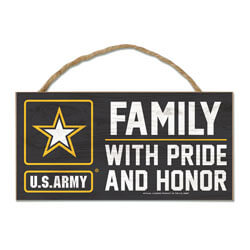 Army Family Wood Sign