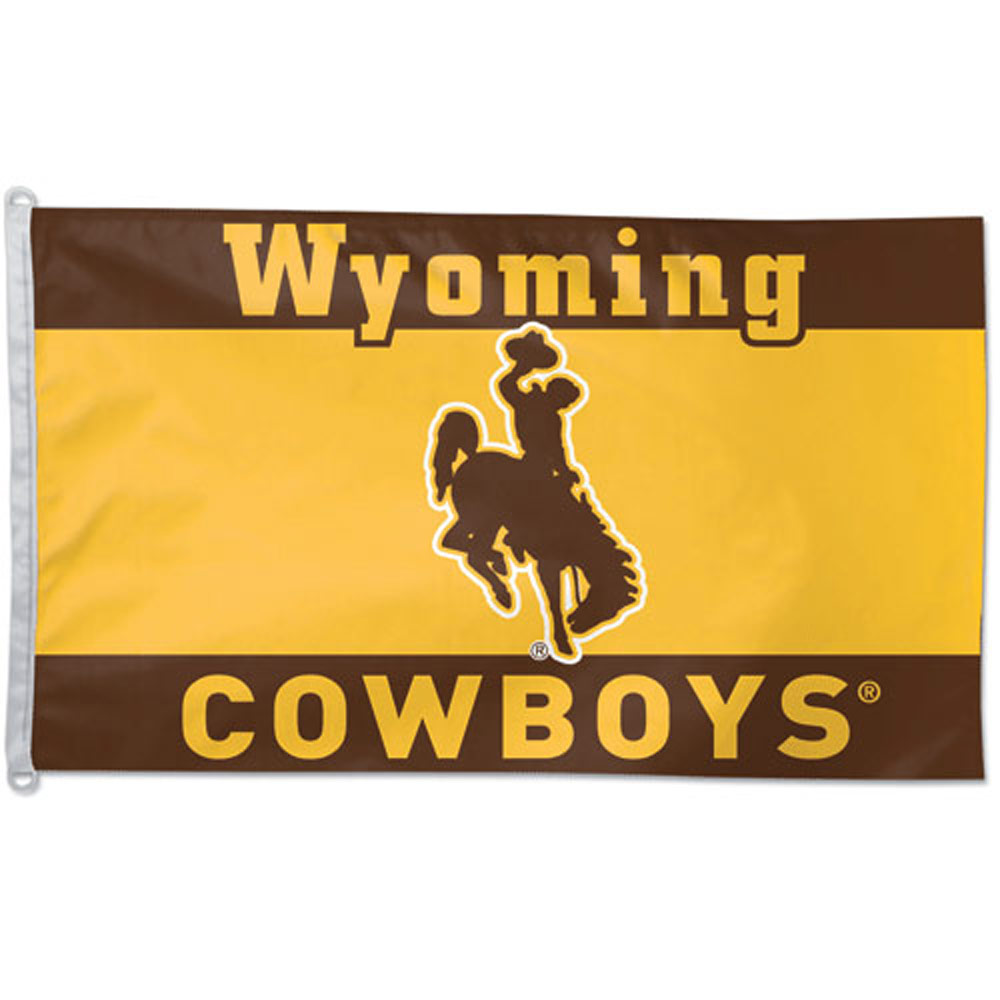 The wyoming cowboys flag is an official licensed ncaa team logo flag