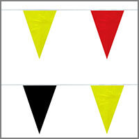 String Pennant Flags with Yellows & Golds